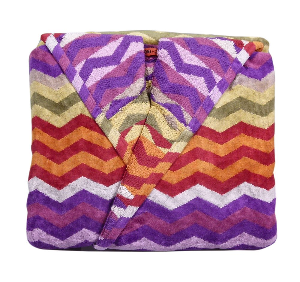 Missoni Home Bath robe with hood design multicolor ZIG-ZAG PETE