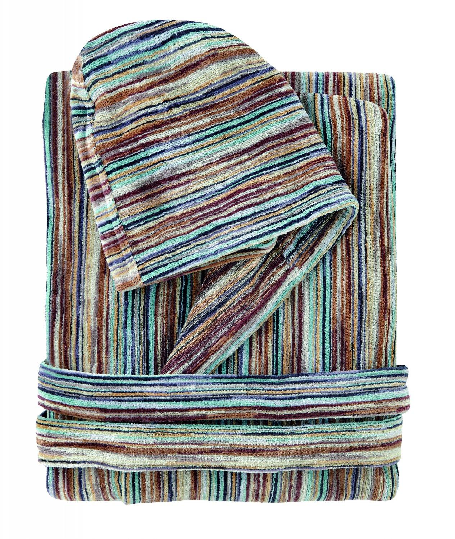 Missoni Home Bath robe with hood RONAN var. 160 on shades of green