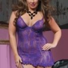 Sexy  purple lace lingerie
