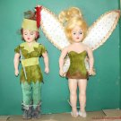 VINTAGE PETER PAN AND TINKER BELL DOLLS ORIGINAL BOX 8-1/2""
