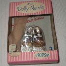 VINTAGE TOTSY   GOLD & SILVER SHOES & HOSE FOR HIGH HEELED FASHION DOLLS