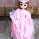 1960s BIG EYE  BRADLEY TYPE DOLL IN FRENCH FASHION GOWN