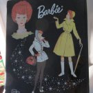 VINTAGE BARBIE BLACK VINYL DOUBLE CASE TITAN BUBBLE CUT WINTER HOLIDAY RAINCOAT