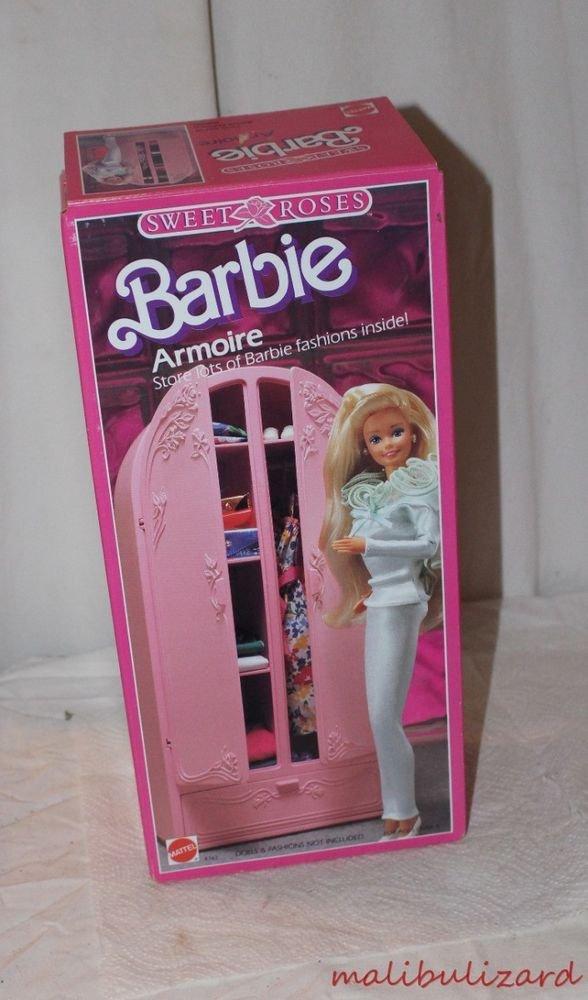Vintage Barbie Sweet Roses Armoire Unused in Box