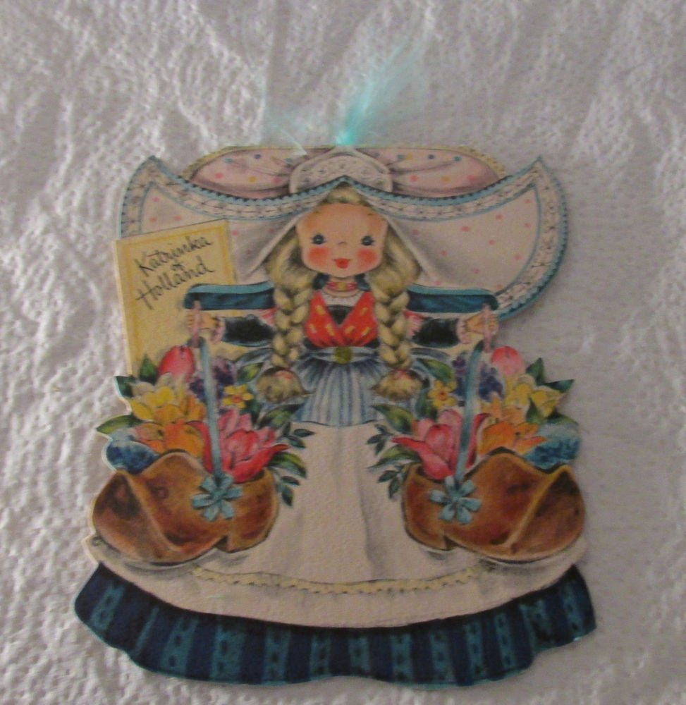 VINTAGE HALLMARK DOLLS OF THE WORLD GREETING CARD KATRINKA OF HOLLAND UNUSED FS