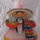 VINTAGE HALLMARK DOLLS OF THE WORLD GREETING CARD MARIA OF MEXICO UNUSED FREE SH