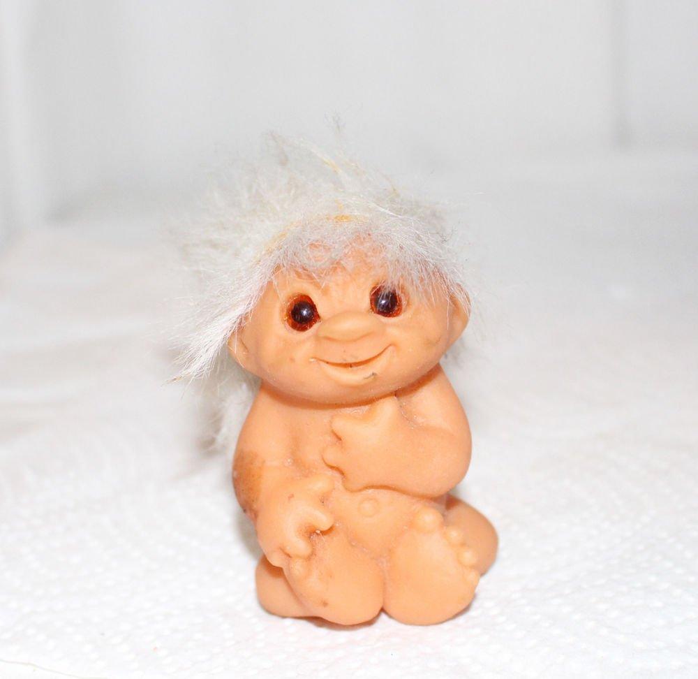 "BABY TROLL WHITE HAIR NEWBORN POSITION DAM 3"""