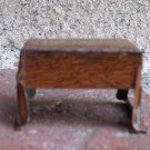 VINTAGE MARX TIN LITHO NEWLYWED DOLLHOUSE FURNITURE PARLOR TABLE BROWN PATTERN