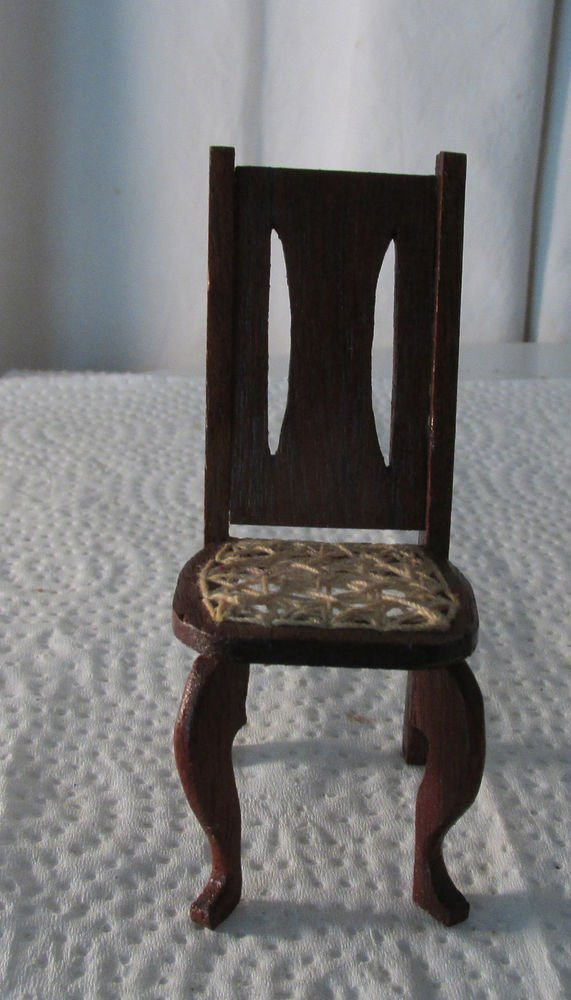 DOLLHOUSE MINIATURE DINING ROOM CHAIR