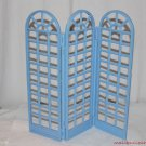 BARBIE GRAND HOTEL TRI-FOLD ROOM DIVIDER BLUE REPLACEMENT PART