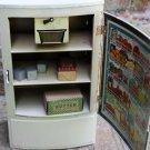 1930s Polar Refrigerator with Original Ice Blocks Tray Bacon Butter Rare