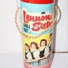 Vintage Lennon  Sisters Paper Dolls Some Uncut Tube 1959