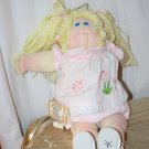 Vintage 1983 Cabbage Patch Doll Soft Face Lemon Yellow Hair Tags Erica Alberta