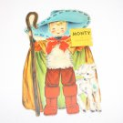 Vintage Hallmark Dolls of the World Unused Greeting Card Monty of Australia