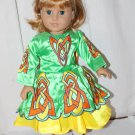 Doll Outfit Fits American Girl Nellie Ethnic Irish Dancing Outfit