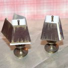 Pair of Vintage Ideal Petite Princess Brass Lamps with Shades