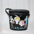 RARE 1960s Barbie and Midge Brunch Bag Black Vinyl Excellent Condition HTF