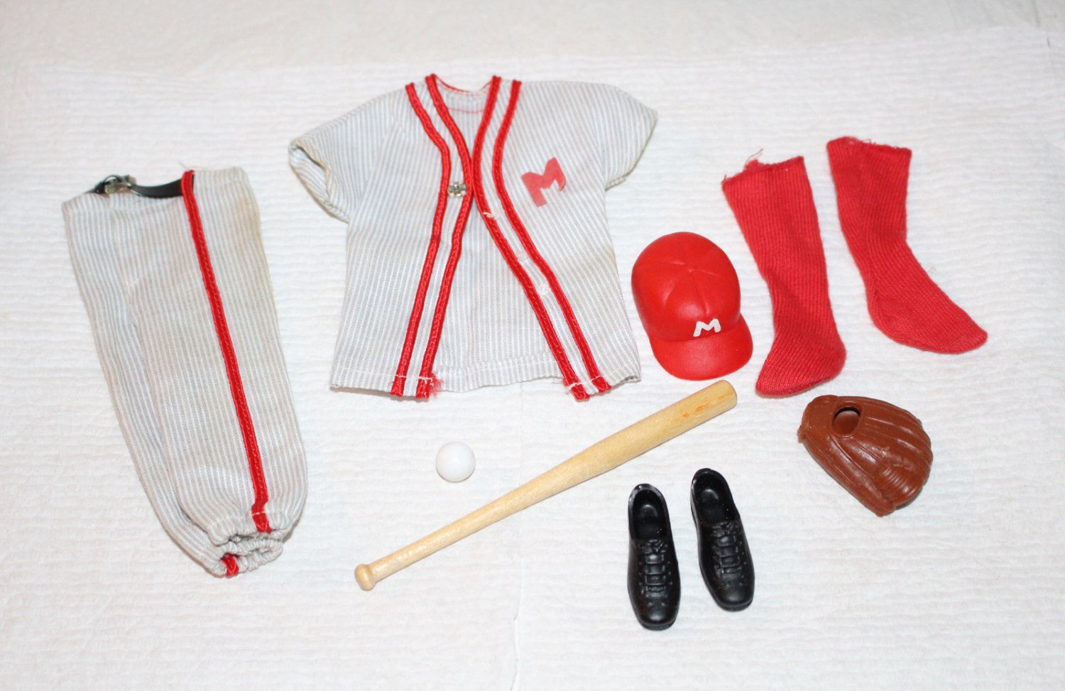 Vintage Ken #792 Play Ball Baseball Outfit 1963-64 Complete Excellent