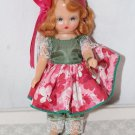 "Nancy Ann Storybook Doll Red Hair Wrist Tag Pristine 5-1/2"" Tall"
