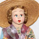 "Vintage Doll Cloth Side Glancing Eyes In the Style of Lenci 8"" Tall"