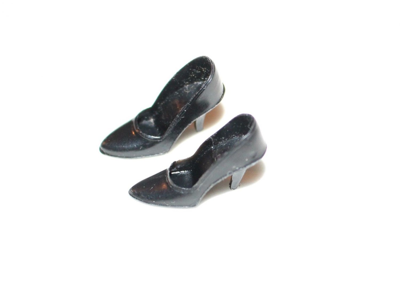 Vintage Barbie CT  Black Spike Pumps Shoes Heels Japan