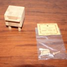 Dollhouse Miniature Butcher Block Table with Wooden Utensil Set