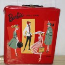VINTAGE BARBIE CASE EMPTY RED SINGLE NICE GRAPHICS COMUTER SUBURBAN EXCELLENT