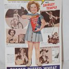 VINTAGE SHIRLEY TEMPLE AD QUAKER PUFFED RICE APRIL 1937