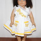 Doll Dress Pretty White Butterflies Lace  Fits American Girl Doll