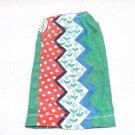 VINT SEW FEW FASHION DRESS RED GREEN BLUE MOD ZIG ZAG  FITS BARBIE