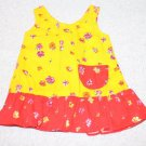 "Orange Yellow Doll Dress fits Skinny 18"" Doll Fits Magic Attic Just Pretend"