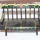 Vintage Shackman Dollhouse Deacon's Bench Toll Painted
