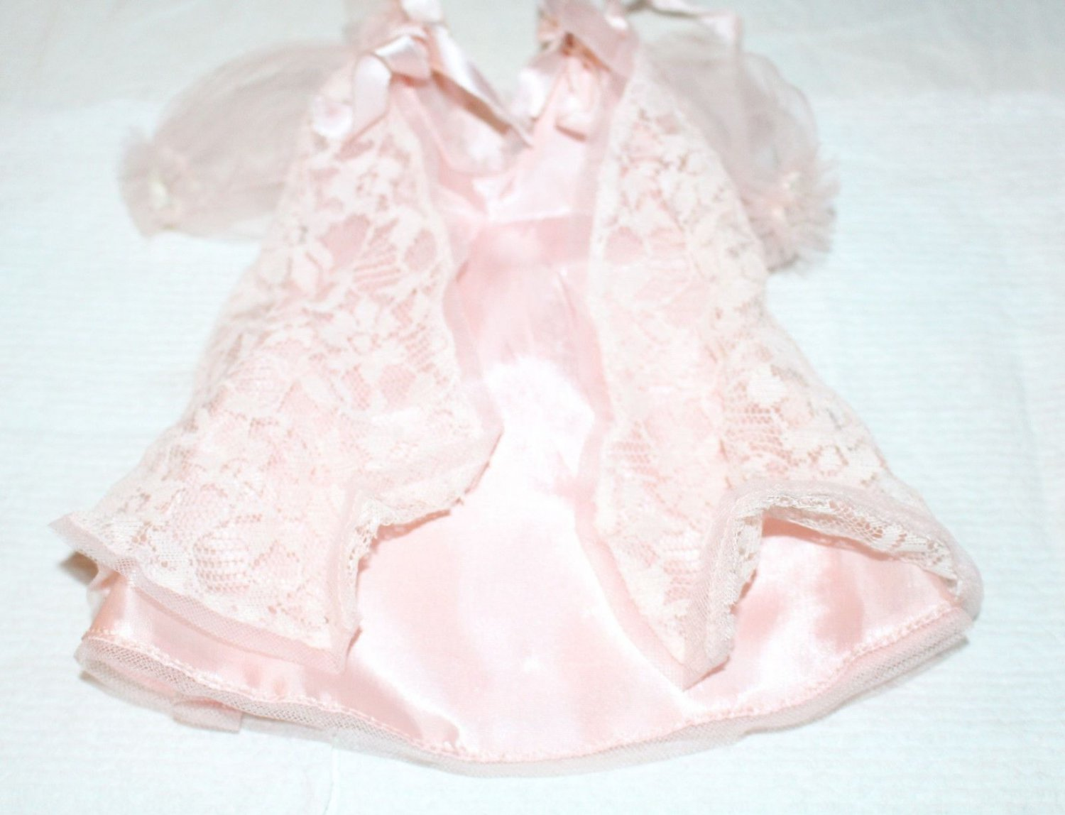 "Vintage Ideal Pink Nighgown & Robe Fits 12"" Shirley Temple"