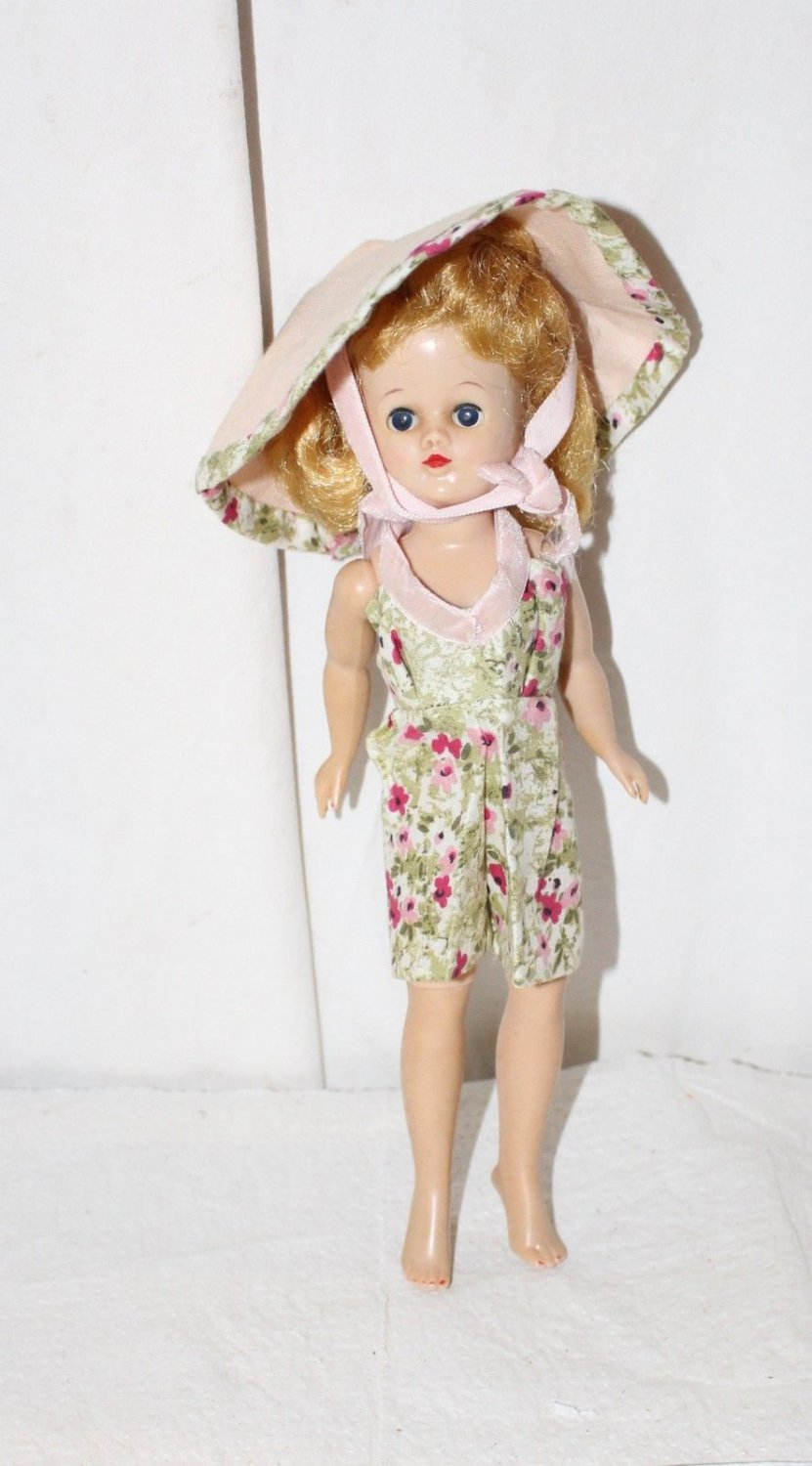 VINTAGE ADORABLE SUNSUIT AND HAT FITS JILL AND SIMILAR SIZE DOLLS