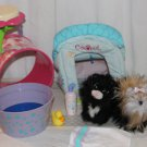 American Girl Pets and Accessories  Yorkie Dog Sugar Licorice + Playtower