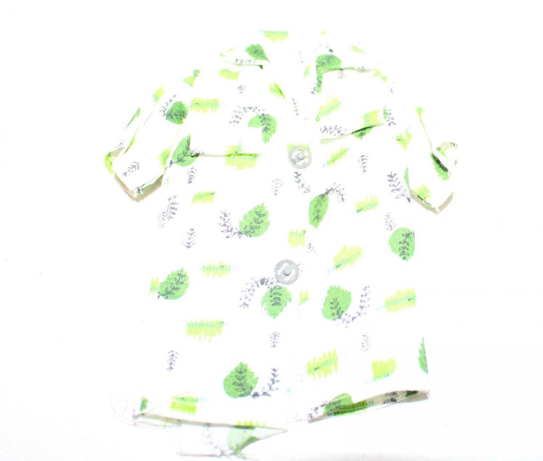 Vintage Ken Clone Shirt Fits Mattel Ken Doll Abstract Green Print
