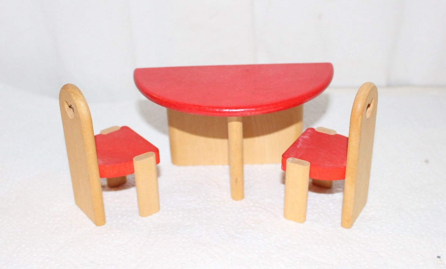 Vintage Bodo Hennig Germany Dollhouse Half Table and 2 Chairs
