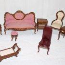 Vintage Dollhouse Furniture Living Room