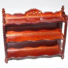 Dollhouse Miniature Chippendale Style Wall Shelf Wood