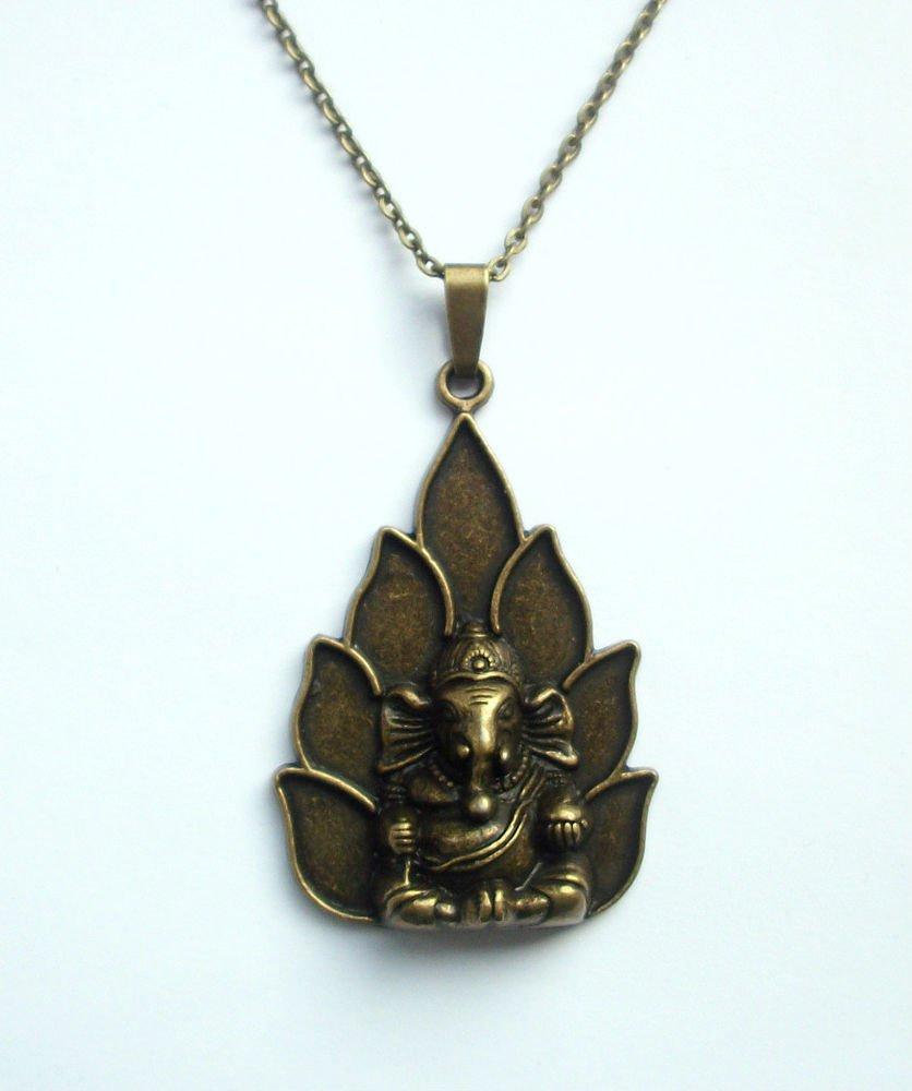 Ganesha Ganesh Elephant God Pendant and Chain