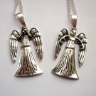 Dr Who Weeping Angel Pendant Necklace 1 on Silver Tone Chain