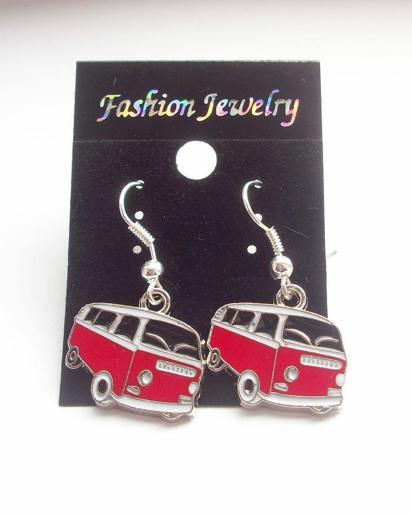 VW Camper Van Enamelled Earrings