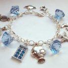 Dr Who Tardis  Beads Charm Bracelet