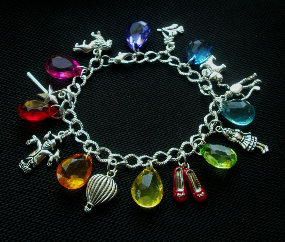 Wizard of Oz Rainbow Charm Bracelet