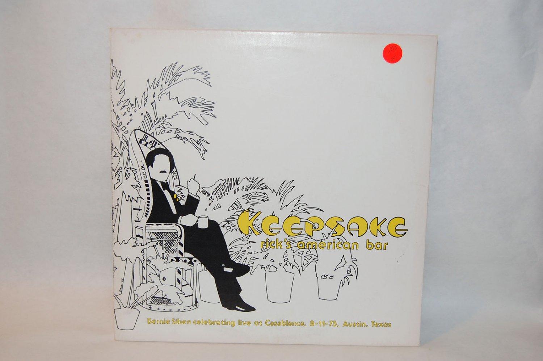 "BERNIE SIBEN Keepsake Live At Rick's American Bar12"" Vinyl LP ACR 1975"