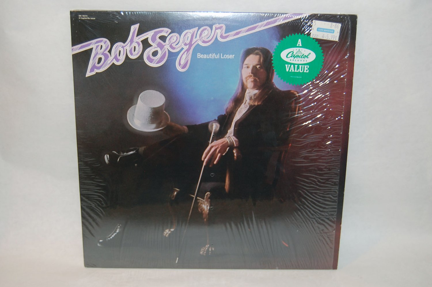 "BO SEGER Beautiful Loser 12"" Vinyl LP Capitol 1975"