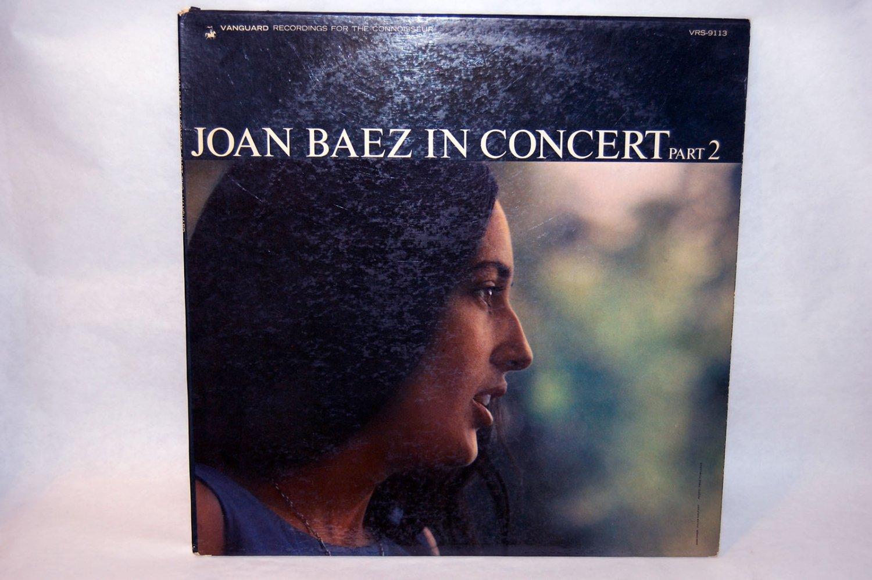 """JOAN BAEZ In Concert Part 2 12"""" Vinyl LP Vanguard 1963"""