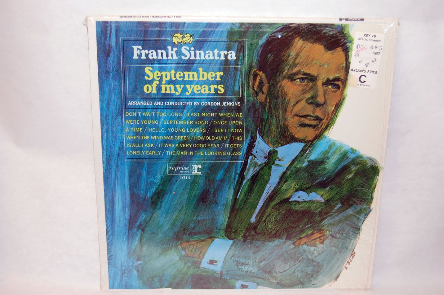"FRANK SINATRA September Of My Years 12"" Vinyl LP Capitol F-1014"