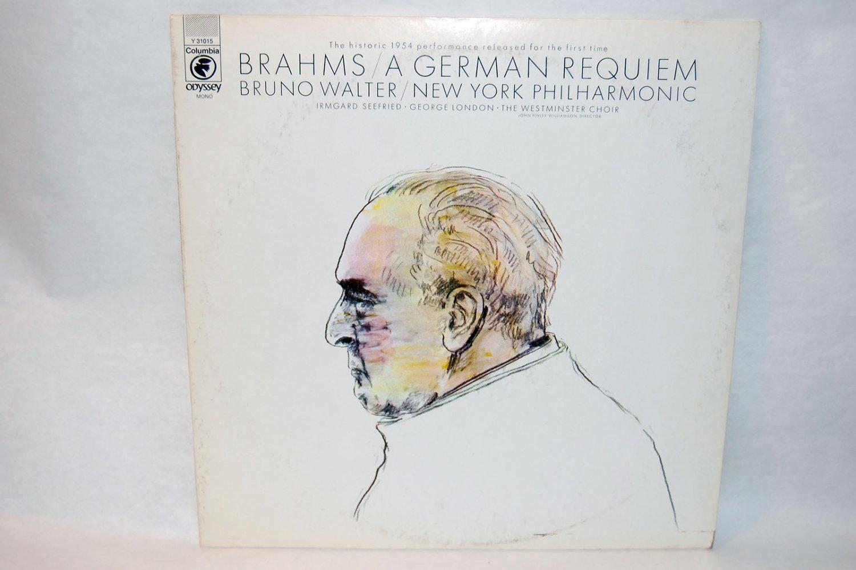 "BRAHMS / A GERMAN REQUIEM Bruno Walter 12"" Vinyl LP Odyssey V-31015"