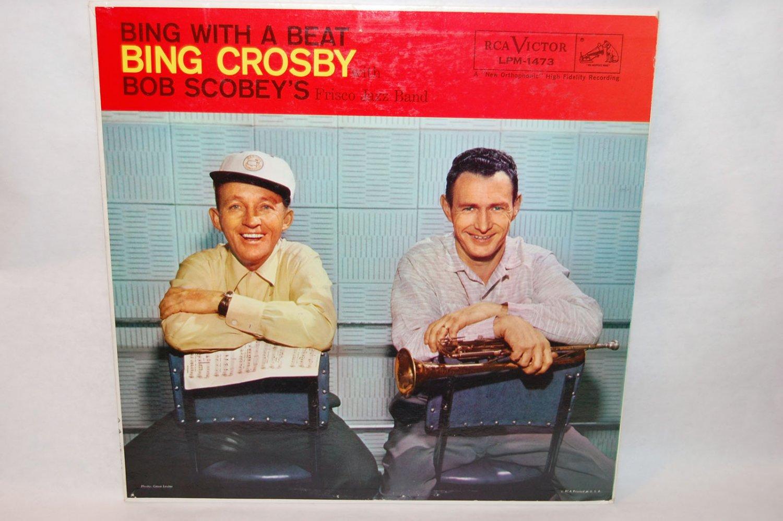 "BING CROSBY & BOB SCOBEY Bing With A Beat 12"" Vinyl LP RCA LPM-1473"